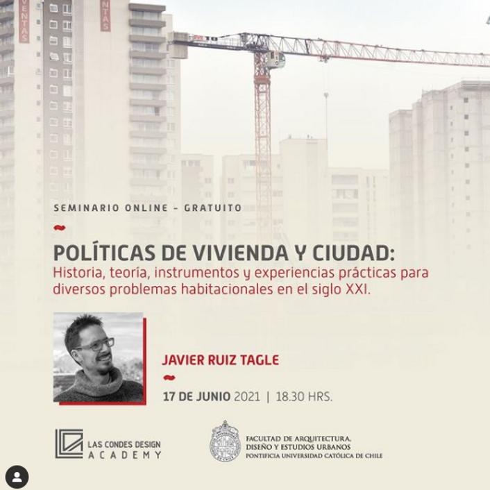 """""""Políticas de Vivienda y Ciudad: historia, teoría, instrumentos y experiencias prácticas para diversos problemas habita"""