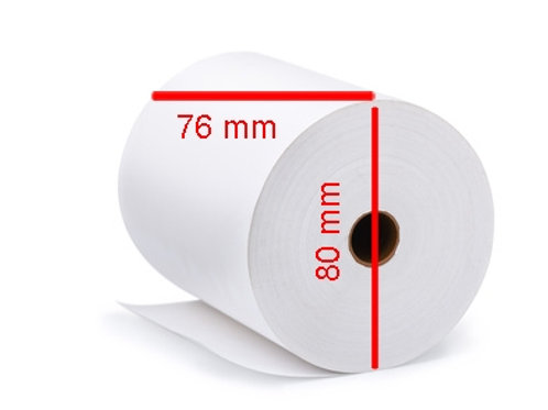 50 Stk Papierrollen Küchendrucker