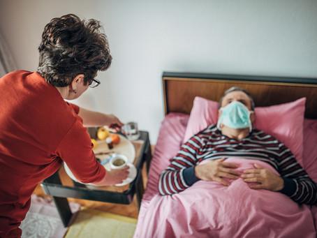 Cuidando de alguém com COVID-19