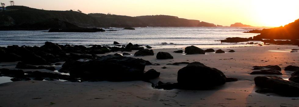 Atardecer en Playa Porcía