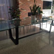 Flat steel frame