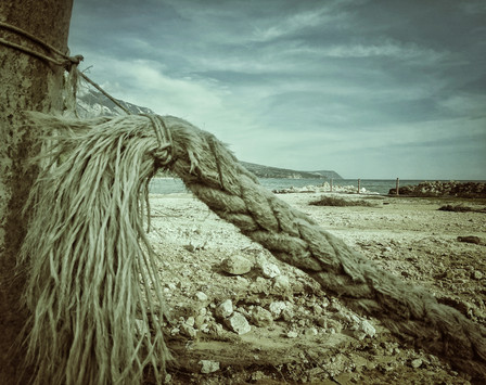 Old Rope On The Beach