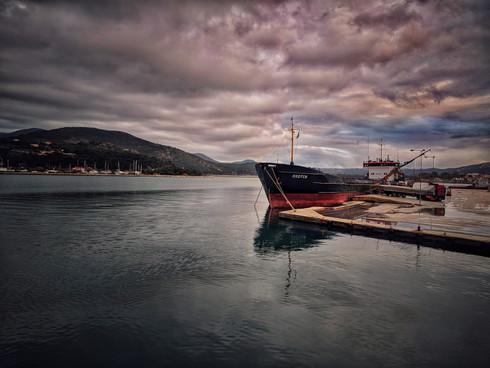 Cargo Ship At The Harbor