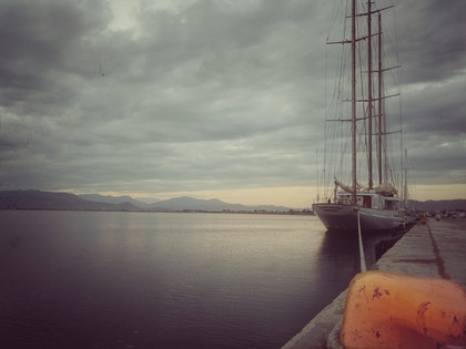 Sailing Boat At The Harbor