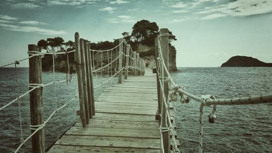 Wooden Bridge In Zante
