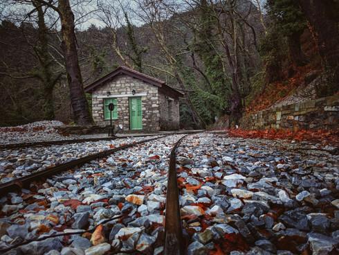 Rail Station In Winter