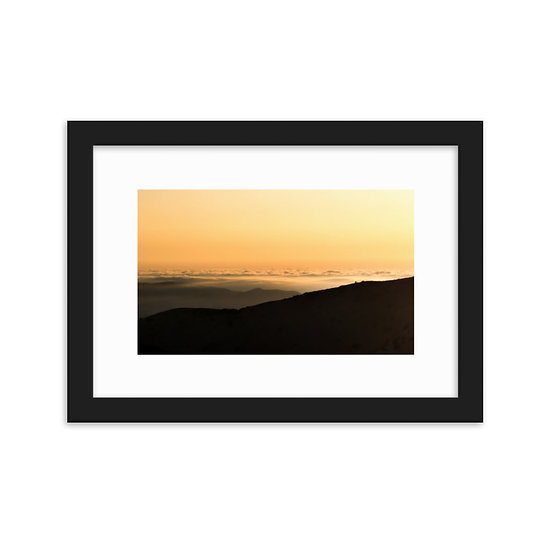 Framed matte paper poster/above the clouds