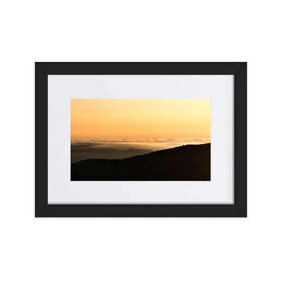 Matte Paper Framed Poster With Mat/above the clouds