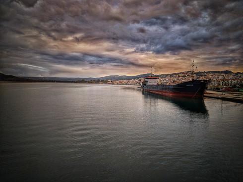 Cargo Ship At The Harbor 2