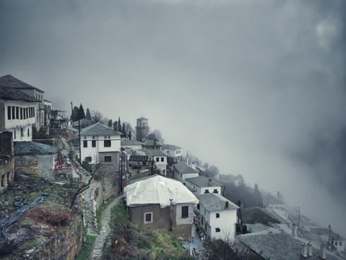 Village On Mountain Pilion