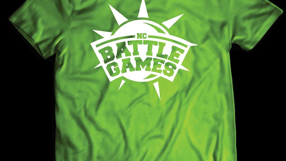 Lime Green Shirt White Logo