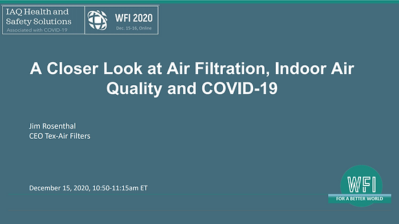 2.3 A Closer Look at Air Filtration, Indoor Air Quality and Covid-19