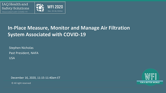 4.4 In-Place Measure, Monitor and Manage Air Filtration System