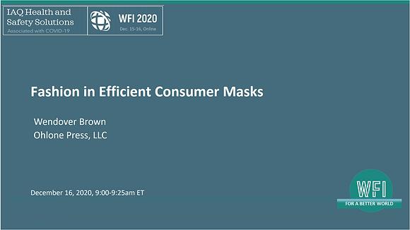 3.3 Fashion in Efficient Consumer Masks,