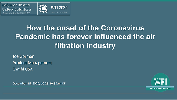 2.2 How the Coronavirus Pandemic has forever influenced the air filtration
