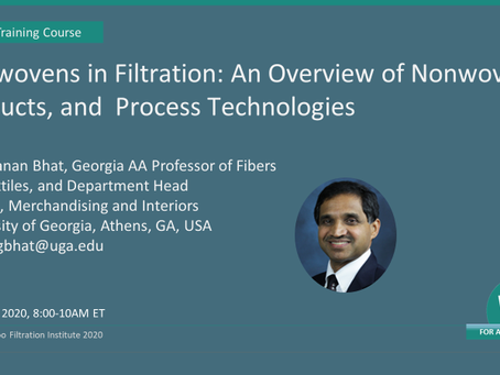 May 12, 2020 - Nonwovens in Filtration