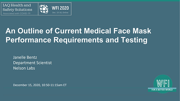 4.3 An outline of current medical face mask performance requirements and testing