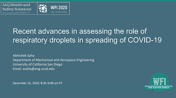 1.2 Recent advances in assessing the role of respiratory droplets