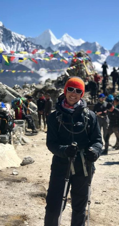 Dingboche to Lobuche._The long up hill s