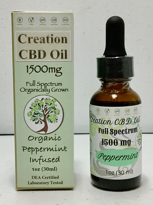 1500mg Full Spectrum CBD/CBDa Oil- Infused Organic Peppermint
