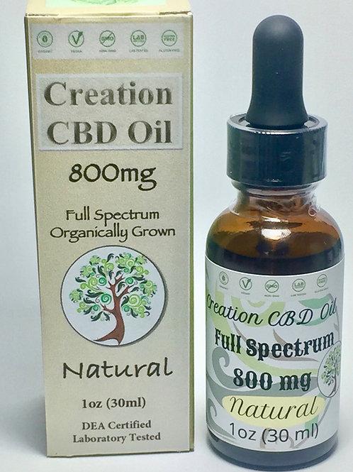 800mg Full Spectrum CBD Oil- 1 oz Natural