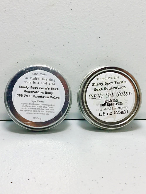 1250mg CBD Salve 1.5oz- Lemongrass and Lavender