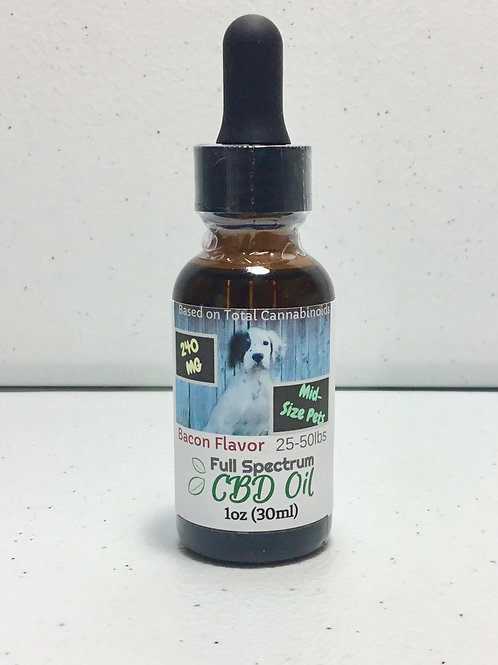240mg CBD Oil for Pets (25-50lbs)