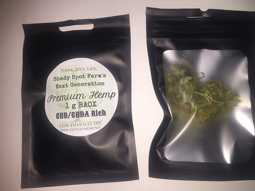 Hemp Flower- 1g CBD/CBDa 15.21%