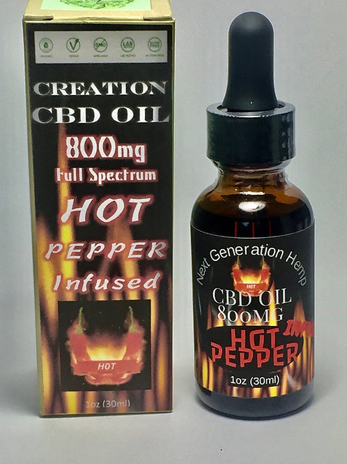 Hot Pepper Infused Full Spectrum CBD Oil- 800mg 1oz