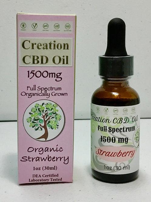 1500mg Full Spectrum CBD/CBDa oil- Strawberry