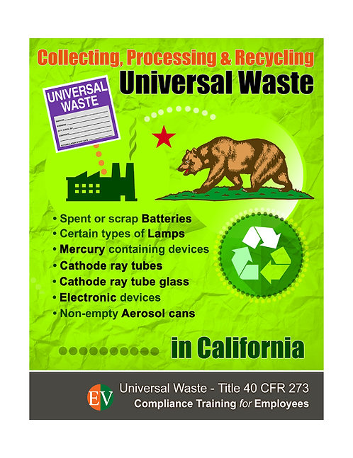 California Universal Waste Training Video