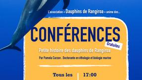 Venez assister à une conférence sur les grands dauphins de Rangiroa !