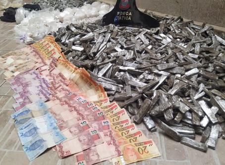 PM apreende 25 quilos de drogas e prende dois em Sumaré