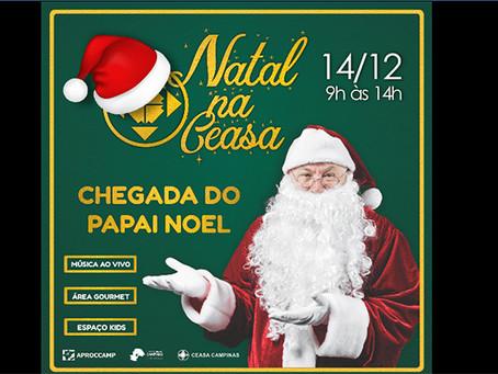 3º Natal na Ceasa tem chegada do Papai Noel, workshop e música ao vivo