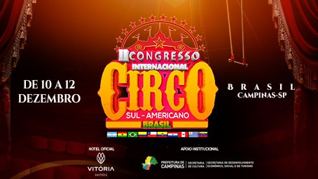 Campinas recebe Congresso Sul-Americano de Circo, de 10 a 12 de dezembro