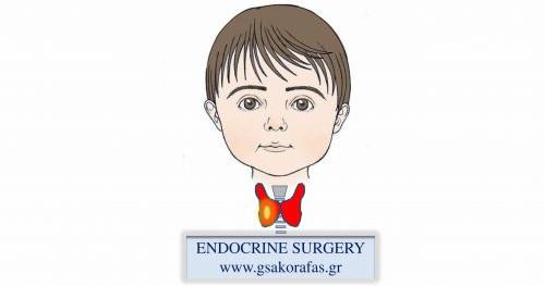 Όζος θυρεοειδούς – ολική θυρεοειδεκτομή σε παιδί ηλικίας 10 ετών