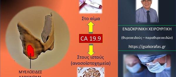 Μυελοειδές καρκίνωμα θυρεοειδούς και CA19.9- o ρόλος του σαν καρκινικός [νεοπλασματικός] δείκτης