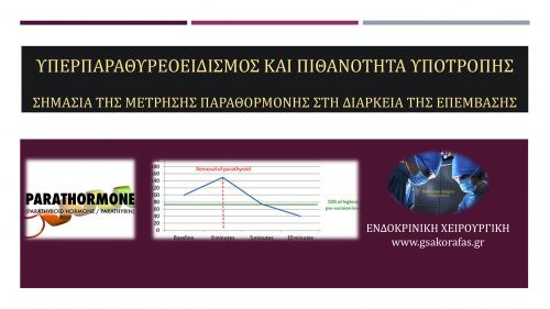 Υπερπαραθυρεοειδισμός και πιθανότητα υποτροπής - σημασία διεγχειρητικής μέτρησης παραθορμόνης