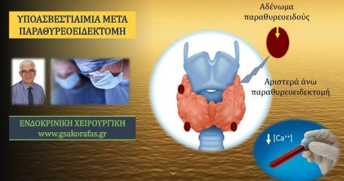 Πρωτοπαθής υπερπαραθυρεοειδισμός (ΡΗΡΤ)  και μετεγχειρητική υποασβεστιαιμία μετά παραθυρεοειδεκτομή