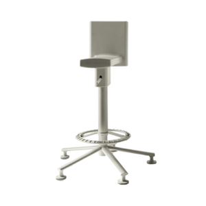 Der 360° HOCKER von MAGIS besticht durch seine individuelle Ausstrahlung, besonders durch die farblichen Gestaltungsmöglichkeiten in Hellgrau, Schwarz, Olivgrün und Orange. Die Sitzhöhe ist pneumatisch verstellbar, das Gestell aus Stahl.