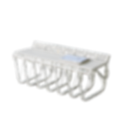 Das Entree-Programm UPON von SCHÖNBUCH umfasst einen Garderobenständer, eine Wandgarderobe, eine Bank und einen Tisch. Die Stahlgestelle sind pulverbeschichtet, erhältlich in den Farben Weiss, Schwarz und Alusilber. Die Holzleisten der Bank sind in der jeweiligen Farbe des Gestelles lackiert oder lasiert.