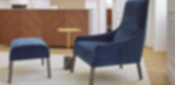 ligne roset long Island Sessel mit Hocker