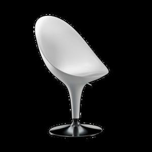 Die feminine Form von BOMBO lädt zum langen Verweilen ein. Das Gestell besteht aus verchromtem Stahl, der Sitz mit einer verstellbaren Sitzhöhe ist aus Kunststoff (ABS). BOMBO von MAGIS ist in den Farben elfenbein, anthrazit und weiss erhältlich.