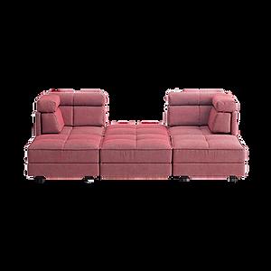 OASE bietet durch flexibel miteinander kombinierbare Einzelelemente unbegrenzten Gestaltungsfreiraum. Als Einzelsofa oder Eckgruppe erhältlich. Der Hocker bietet auf Wunsch einen Stauraum unterm Sitz. Aufsteckkissen dienen als Kopfstütze.