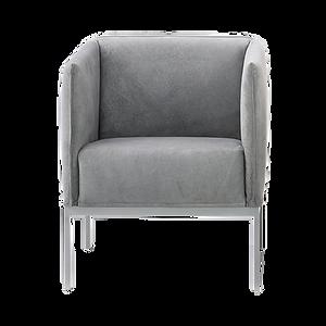 Sessel RANDOLPH zum beliebigen Gruppieren. Trotz geringer Maße, hat der Sessel einen hervorragenden Sitzkomfort. Als Solitär eignet sich RANDOLPH gut.