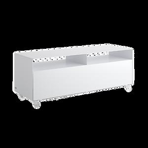 Mobile Möbel auf Rollen. Die Serie MOBILE LINE beinhaltet flexibel einsetzbare Container und Sideboards, wahlweise auf Industrierollen oder Kufen. So sind sie beispielsweise als TV-Board mit Kabelauslässen und einer Belastbarkeit von bis zu 50 kg geeignet. Lackierung in allen RAL-Farben möglich.