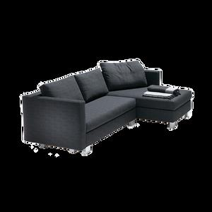 GOODLIFE lässt keine Gestaltungswünsche offen: Ob als Einzelsofa oder Eckgruppe mit vielen verschiedenen Armlehnvarianten. Die Polsterung besteht aus einem mehrschichtig aufgebauten Polyätherschaum, die Füße sind aus Holz und in allen Farben der RAL-Karte lieferbar. Durch einfaches Vorziehen des Sitzes ist GOODLIFE schnell zum komfortablen Bett umfunktioniert. Verschiedene Kissenvarianten sorgen für eine perfekt angepasste Sitztiefe, ein passender Sessel rundet das Programm ab.