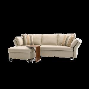 Mit dem Schlafsofa PAULA stehen Sitz- sowie Liegekomfort gleichwertig im Vordergrund. Ob als Einzelsofa, Eckgruppe mit Recamiere oder Schlafsessel, PAULA von SIGNET lässt sich wunderbar in jedes Wohnzimmer integrieren. Die Sitz- sowie Rückenkissen sind grundsätzlich abziehbar, zur Auswahl stehen strapazierfähige Stoffe sowie verschiedene Lederarten zur Verfügung. Die Seitenteile von PAULA sind mehrstufig abklappbar.