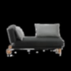 Recamiere TAM von BRÜHL mit lässigem Charme, stilsicher in Form und Funktion. Als Ruhepol für Mußestunden. Flexibel abklappbare und verschiebbare Rücken- und Seitenlehne, anschmiegsame Polster, großes Seitenkissen, verschiedene Bezüge zur Auswahl, abziehbar und mobil durch Rollen am Modulende (Schlafmaß 75 x 200 cm).