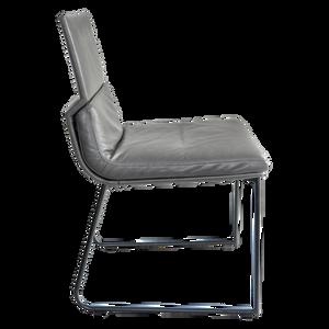 Die Sitzschale und Kissen können in den Materialien frei kombiniert werden, so dass jeder Stuhl eine völlig individuelle Ausstrahlung bekommt. Das Drahtkreuzgestell ist in verschiedenen Lackierungen sowie Mattchrom, Chrom und Edelstahl erhältlich. D. S. ist ausschließlich ohne Armlehnen lieferbar.